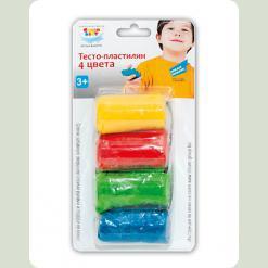 Набір для дитячої творчості «Тісто-пластилін 4 кольори»