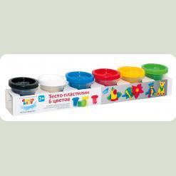 """Набір для дитячої творчості """"Тісто-пластилін 6 кольорів"""""""