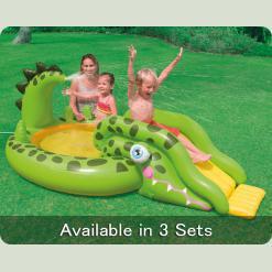 Надувний басейн з гіркою Intex 57132