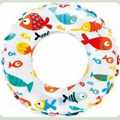 Надувний круг Intex Кольоровий Рибки (59241)