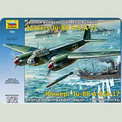 Німецький бомбардувальник / торпедоносець Ju-88 А-17 / А-5