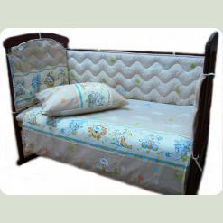 Огородження захисне в ліжечко синтепон, бязь набивна