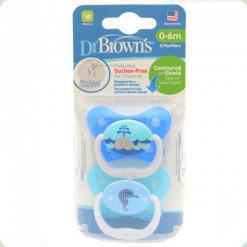 Ортодонтична пустушка Dr. Brown's PreVent 6-18 m Блакитний (22001)