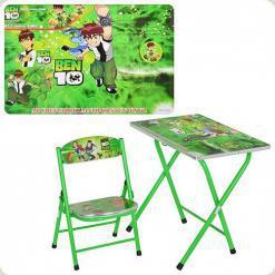 Парта Bambi DT 19-21 зі стільцем Ben 10