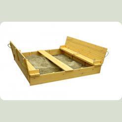 Пісочниця з сосни 200х200см з кришкою тонування груша