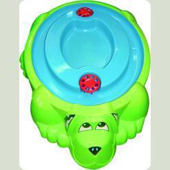 Пісочниця Собачка з кришкою салатового кольору
