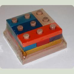 Пірамідка-конструктор Логiка №2 (велика) 12 дет