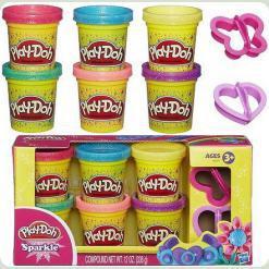 Play-Doh Набір пластиліну із 6 баночок Блискуча колекція