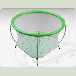 Дитячий манеж Енімалз зеленого кольору