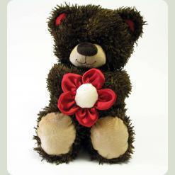 Плюшевий ведмедик Мишко Чіба з квіткою 30 cм