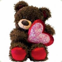 Плюшевий ведмедик Мишко Чіба з серцем 30 cм