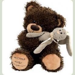 Плюшевий ведмедик Мишко Чіба з зайцем 30 cм