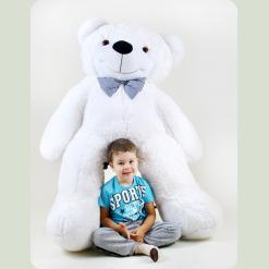 Плюшевий ведмедик Нестор Білосніжний 160 см
