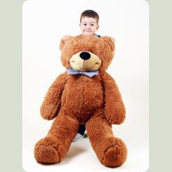 Плюшевий ведмедик Нестор Шоколадний 135 см