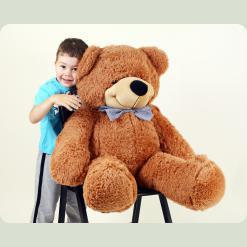 Плюшевий ведмедик Нестор Шоколадний 95 см