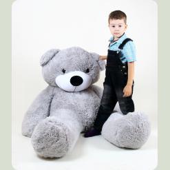 Плюшевий ведмедик Веня Сірий 160 см