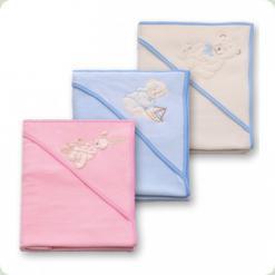 Подвійний куточок для купання з мочалкою-рукавичкою Womar 90х90 см Рожевий (49200)