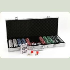 Покерний набір 500 фішок по 11,5 г (алюмінієвий кейс)
