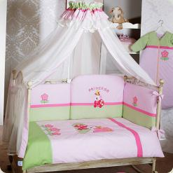 Постільний комплект Feretti Terzetto Princess Premium Pink