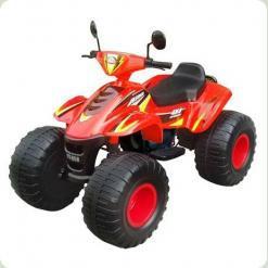 Потужний дитячий квадроцикл M 1714-3 червоний