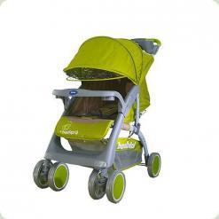 Прогулянкова коляска Bambini King з чохлом Green Elephant