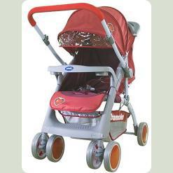 Прогулянкова коляска Bambini Mars з чохлом Red Strawberry