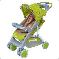 Прогулянкова коляска Bambini Neon з чохлом Green Elephant