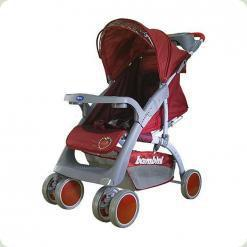 Прогулянкова коляска Bambini Neon з чохлом Red Strawberry
