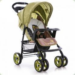 Прогулянкова коляска Bambini Vipper з чохлом Green Elephant