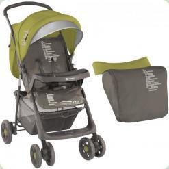 Прогулянкова коляска Bertoni Star з чохлом на ніжки Beige & Green Beloved Baby