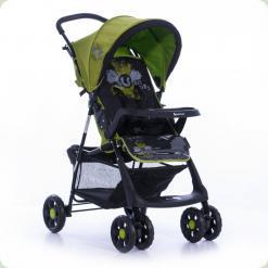 Прогулянкова коляска Bertoni Star з чохлом на ніжки Black & Green Sunny City