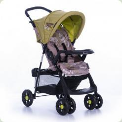 Прогулянкова коляска Bertoni Star з чохлом на ніжки Caramel & Green Pilot