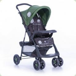 Прогулянкова коляска Bertoni Star з чохлом на ніжки Grey & Green B-zone