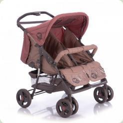 Прогулянкова коляска Bertoni Twin Beige & Terracotta + Сумка