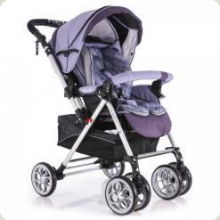 Прогулянкова коляска Capella S-802 Фіолетова Клітка