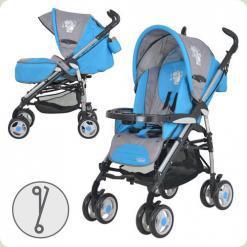 Прогулянкова коляска-тростина Bambi Grazia S6-4 Сіро-блакитний
