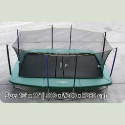 прямокутний батут з захистною сіткою