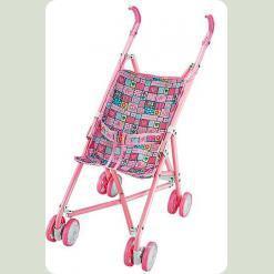 Коляска-тростина для ляльок з поворотними колесами