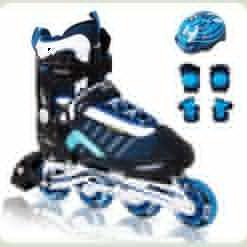 Ролики Amigo Comfortflex Combo XS (28-31) Синій із захистом