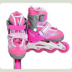 Ролики Profi Roller A 6045 S (31-34) Pink