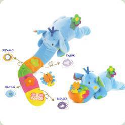 Розвиваюча активна іграшка Biba Toys Слоненя Еллі Блакитний (374MC blue)