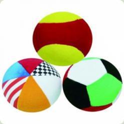 Розвиваюча іграшка Biba Toys М'які спортивні м'ячики (087BR)