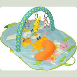Розвиваючий килимок -сумка з дугами Biba Toys Весела ферма ( 085BP )