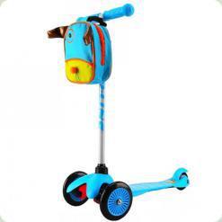 Самокат Ecoline Bliss з сумкою і ліхтариком Блакитний