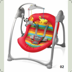 Шезлонг Baby Design Loko-02 (red)
