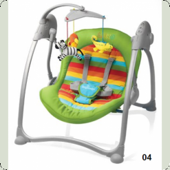 Шезлонг Baby Design Loko-04 (green)