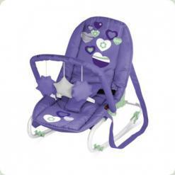 Шезлонг Bertoni TOP RELAX (з іграшкою) (violet hearts)
