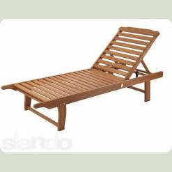 Шезлонг пляжний дерев'яний