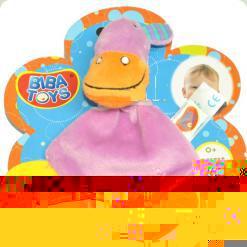 Слюнепоглощающій прорізувач-брязкальце Biba Toys Бегемотик (616JF hippo)