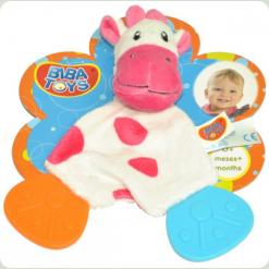 Слюнепоглощающій прорізувач-брязкальце Biba Toys Корівка (616JF cow)